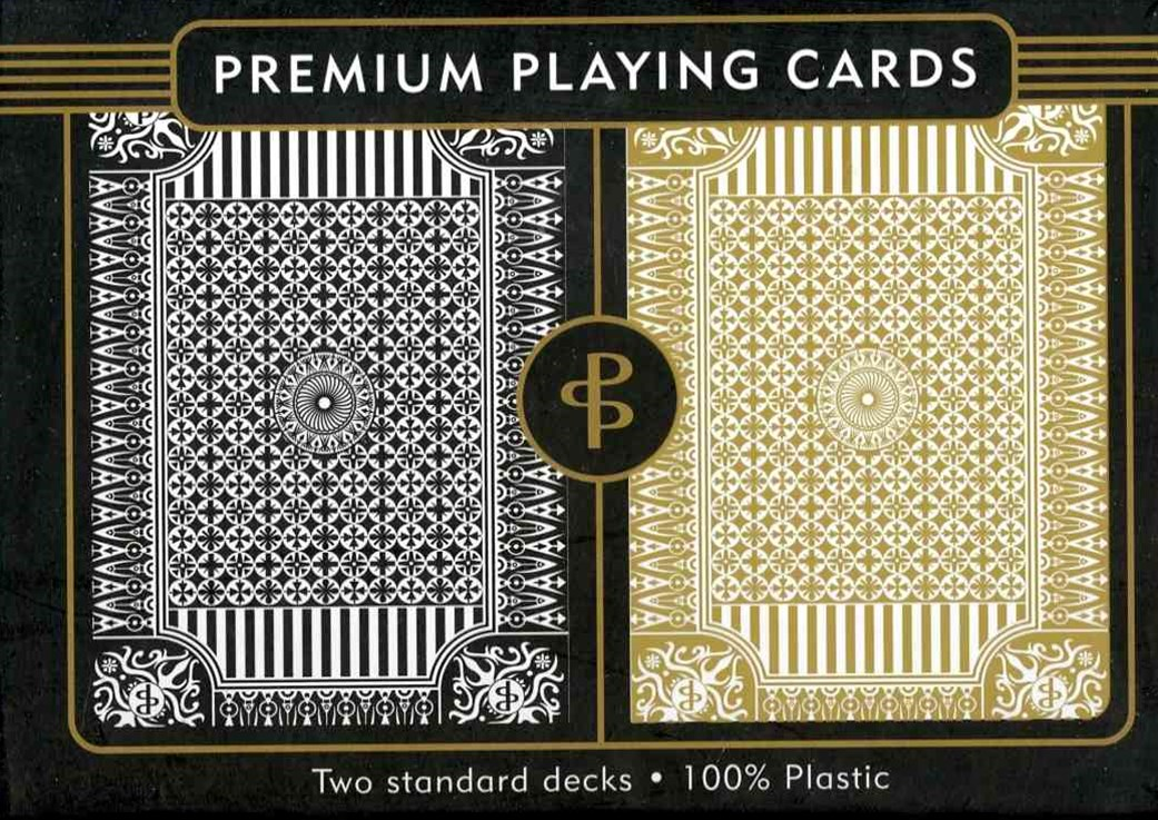 Black & Gold Premium Plastic Playing Cards