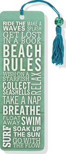 Beach Rules Beaded Bookmark - Lifestyle Bookmarks