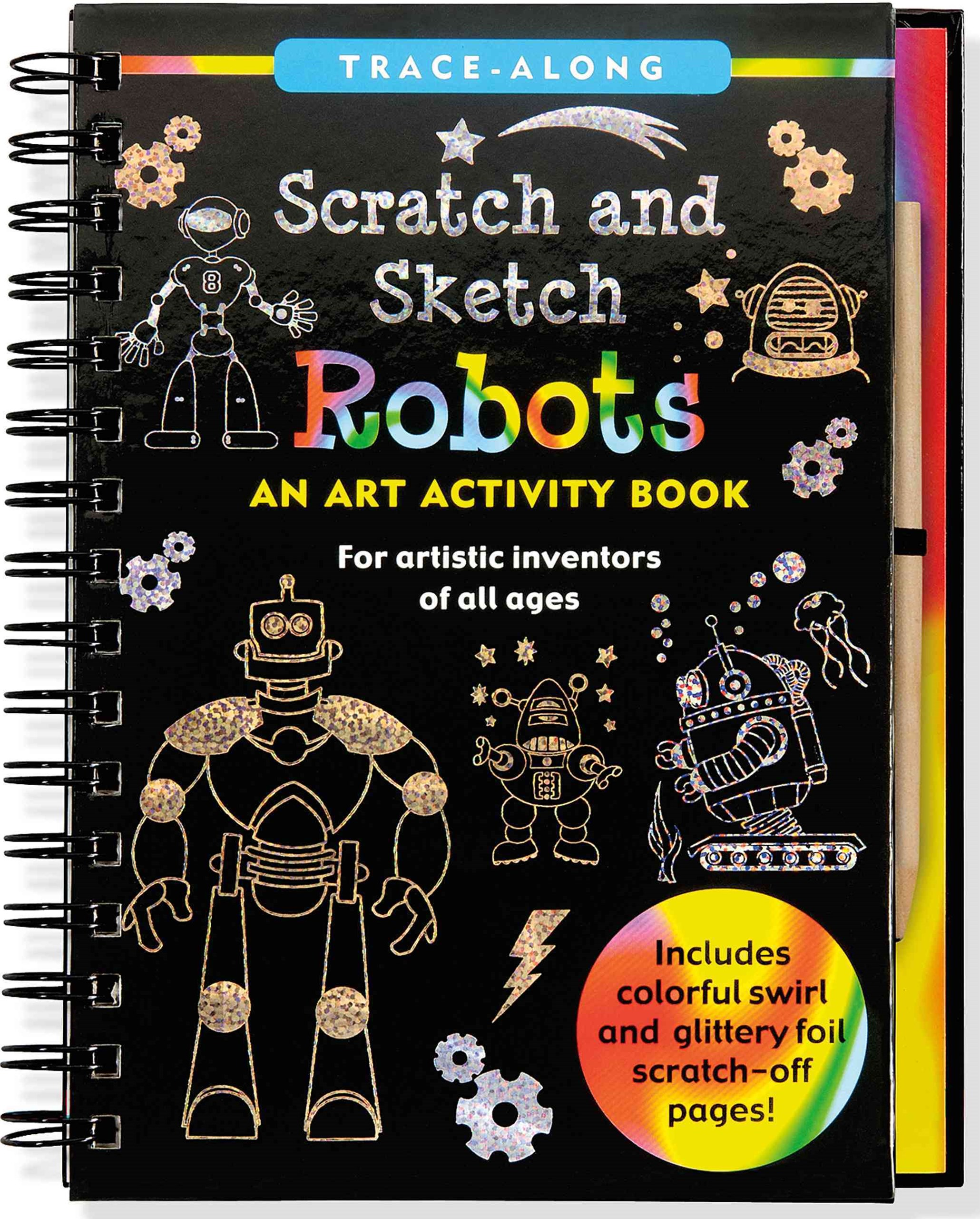 Scratch and Sketch Trace-Along Robots
