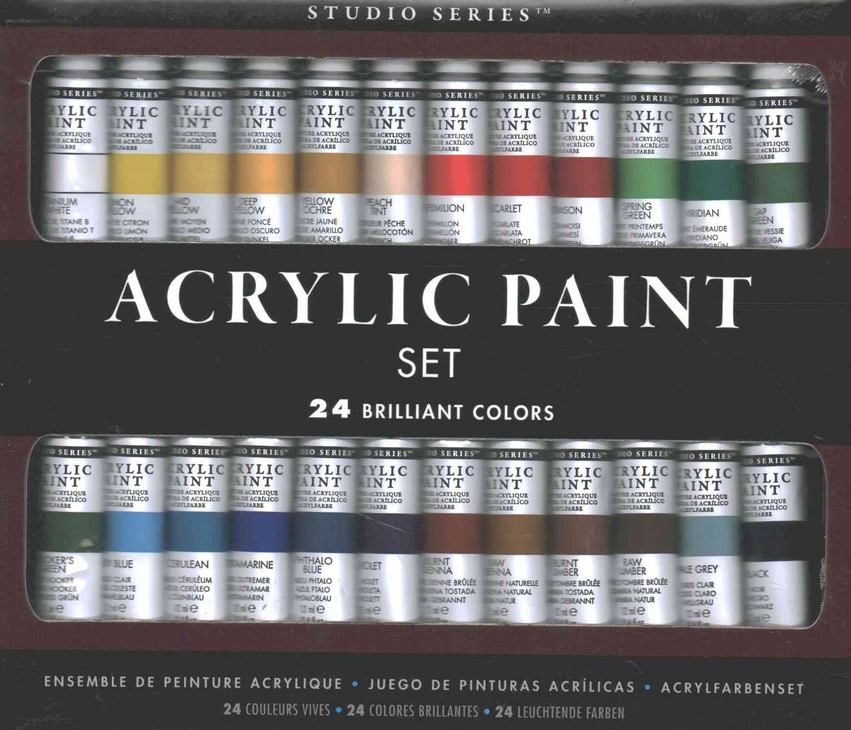 Studio Series Acrylic Paint Set, 24 Colors