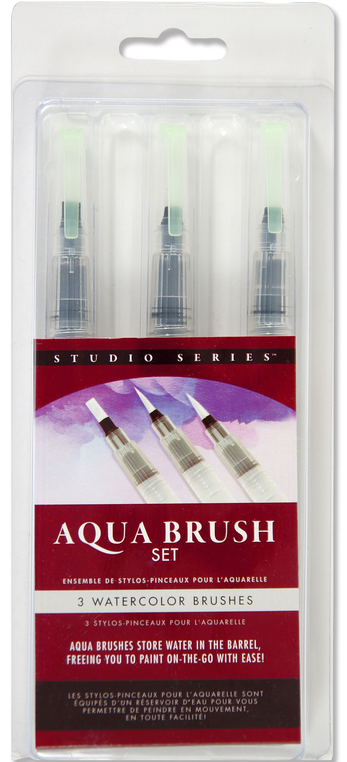 Studio Series Aqua Brushes, Set of 3