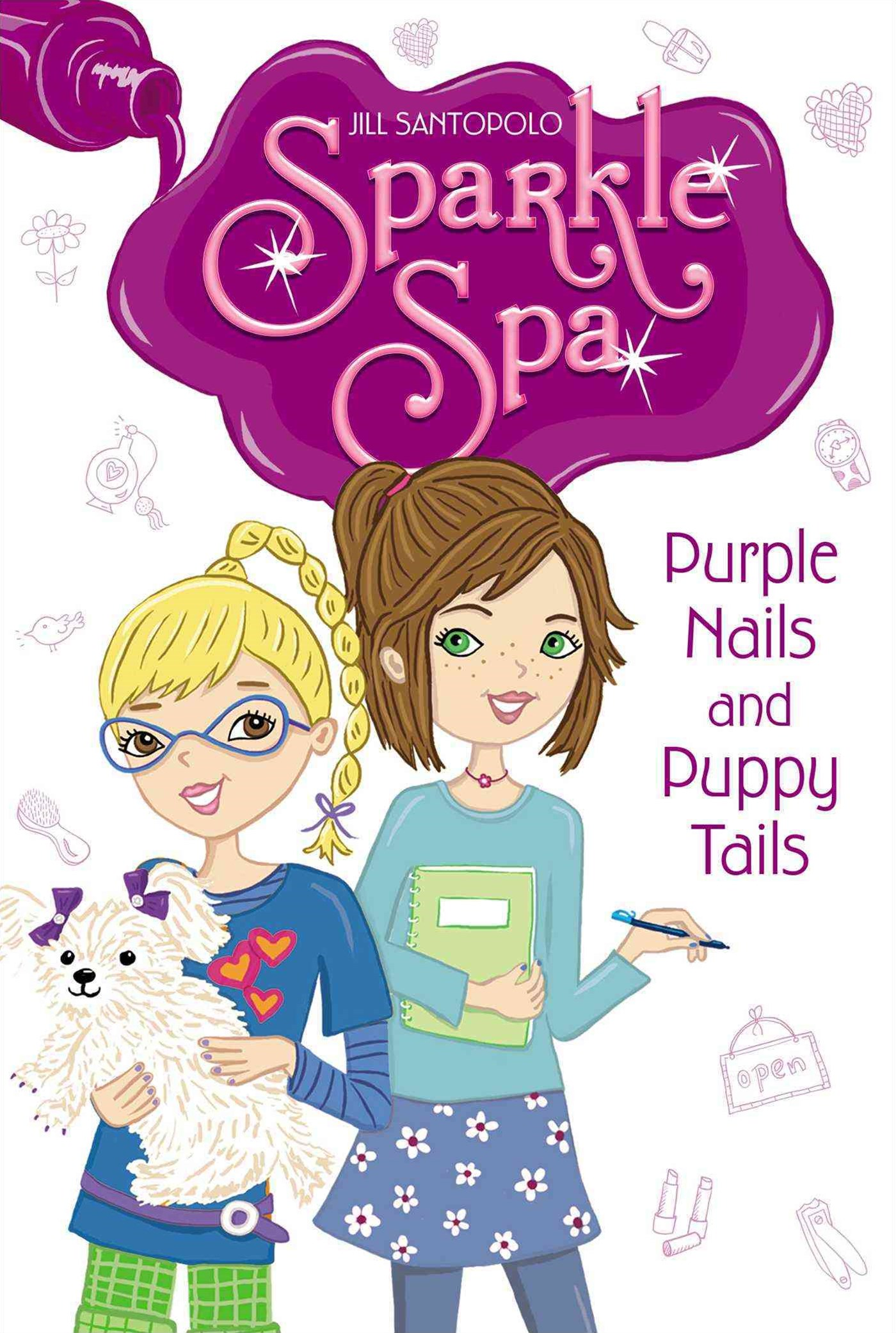 Sparkle Spa #2: Purple Nails and Puppy Tails
