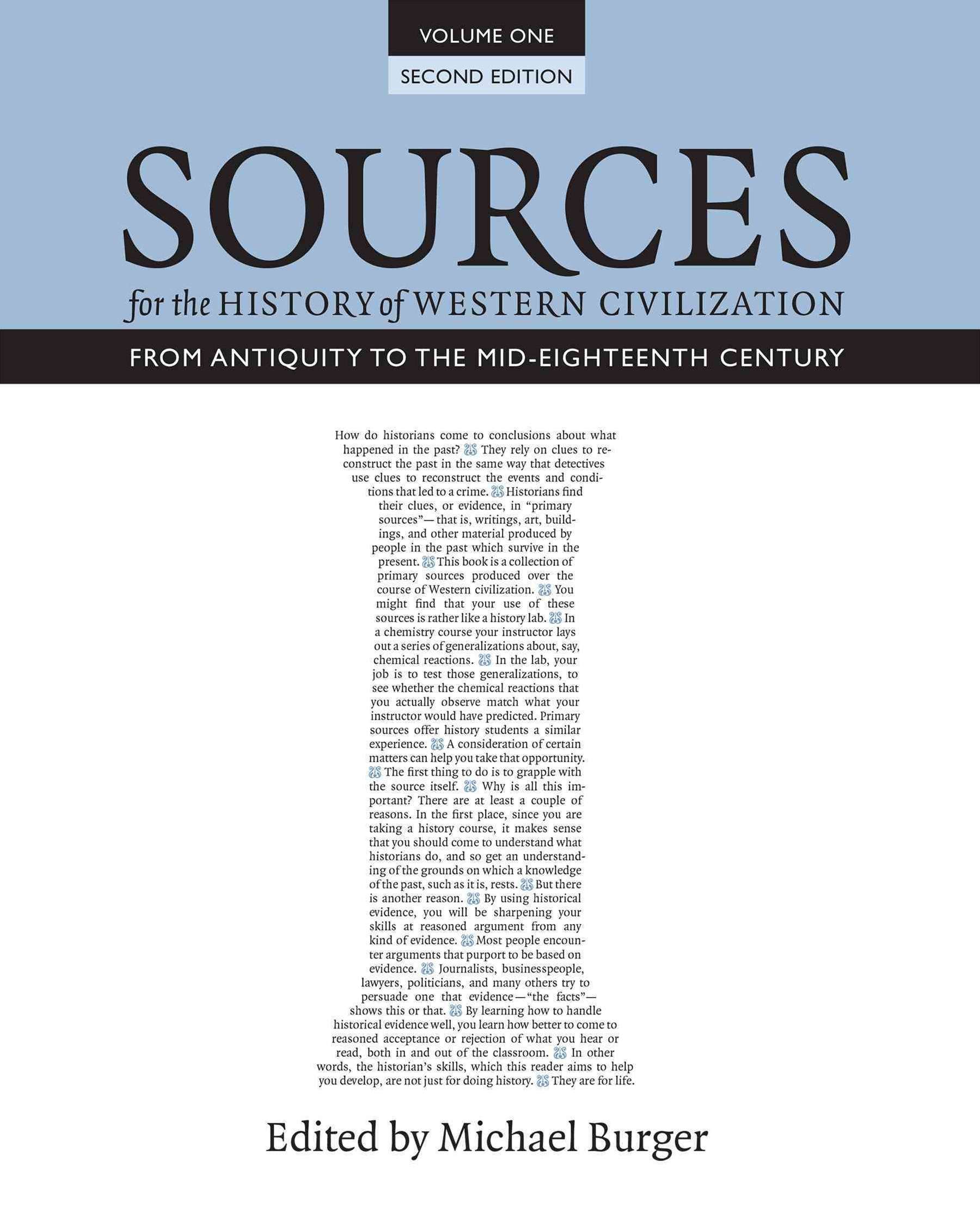 Sources for the History of Western Civilization