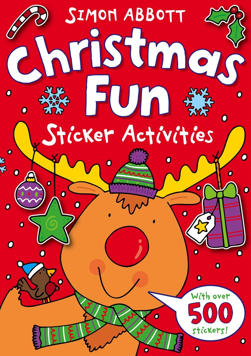 Christmas Fun Sticker Activities Simon Abbott Colouring Book 1