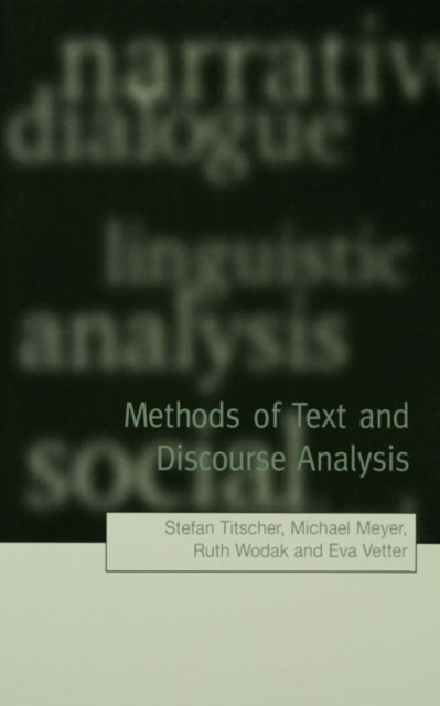 Methods of Text and Discourse Analysis