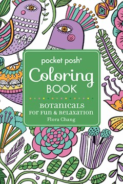 Pocket Posh Adult Coloring Book Botanicals For Fun Relaxation