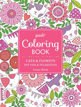 Posh Coloring Book: Cats and Flowers for