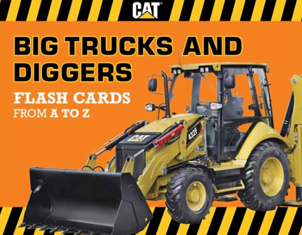 Big Trucks and Diggers Flash Cards from A to Z