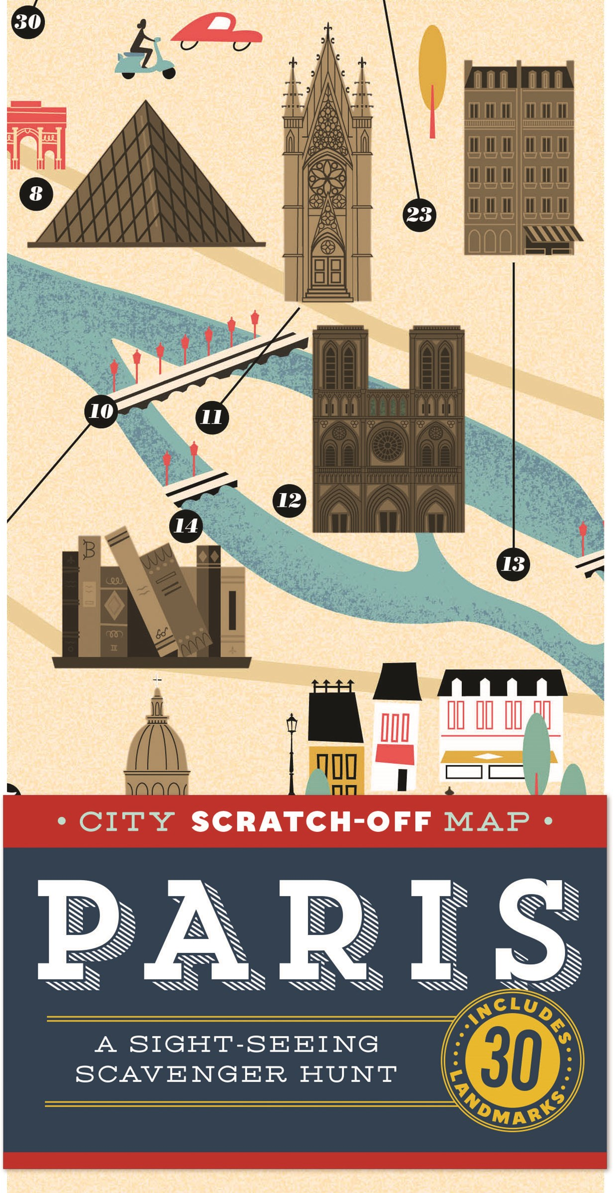 City Scratch-off Map: Paris