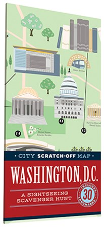 City Scratch-Off Map: Washington, D. C.