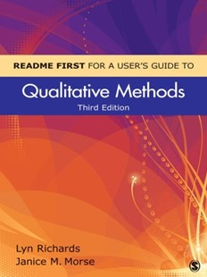 (ebook) README FIRST for a User's Guide to Qualitative Methods - Reference