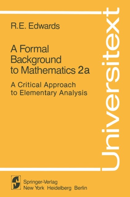 Formal Background to Mathematics 2a