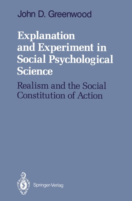 (ebook) Explanation and Experiment in Social Psychological Science