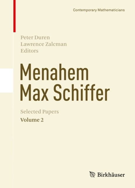 (ebook) Menahem Max Schiffer: Selected Papers Volume 2