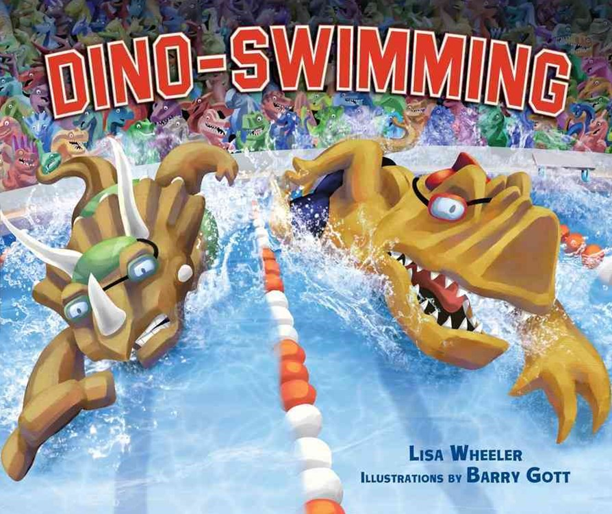 Dino-swimming Library Edition