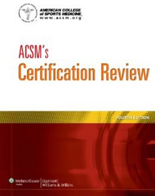 (ebook) ACSM's Certification Review