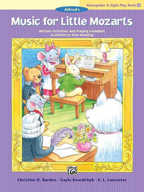 Music for Little Mozarts Notespeller and Sight-Play Book, Bk 4