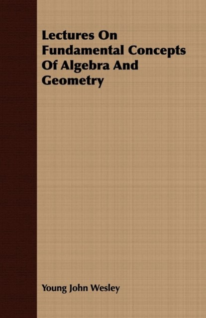 Lectures On Fundamental Concepts Of Algebra And Geometry