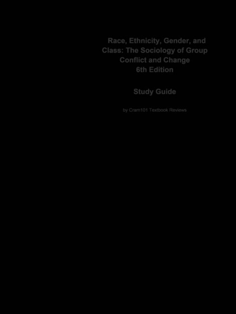 (ebook) Race, Ethnicity, Gender, and Class, The Sociology of Group Conflict and Change