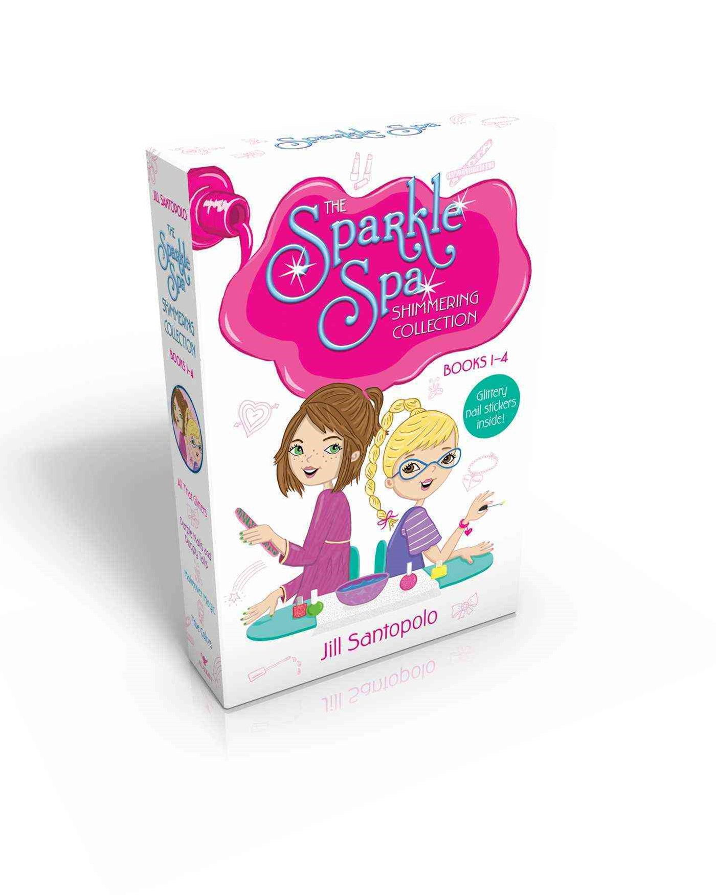 The Sparkle Spa Shimmering Collection Books 1-4 (Glittery nail stickers inside!): All That Glitters