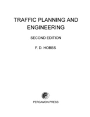 Traffic Planning and Engineering