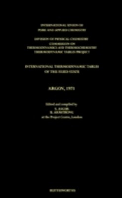 (ebook) International Thermodynamic Tables of the Fluid State, Argon, 1971