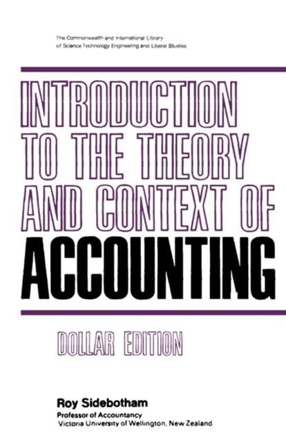 (ebook) Introduction to the Theory and Context of Accounting