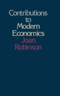 (ebook) Contributions to Modern Economics