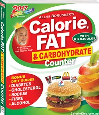 CALORIE FAT & CARBOHYDRATE COUNTER 2017