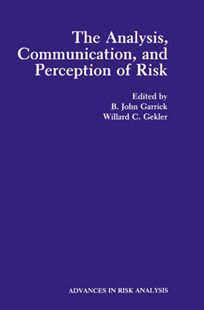 (ebook) Analysis, Communication, and Perception of Risk - Reference Medicine