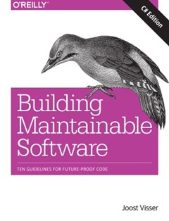 (ebook) Building Maintainable Software, C# Edition