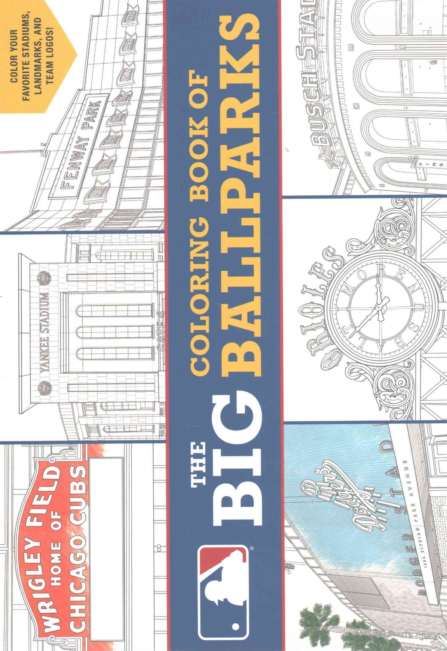 Major League Baseball - The Big Coloring Book of Stadiums