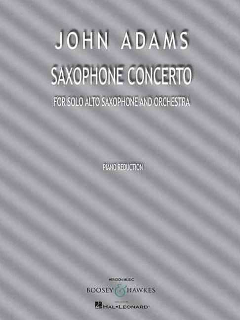 Saxophone Concerto for Solo Alto Saxophone and Piano Reduction