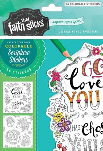 1 Thessalonians 1:4 Colorable Stickers by Tyndale (COR) (9781496422064) - PaperBack - Craft & Hobbies