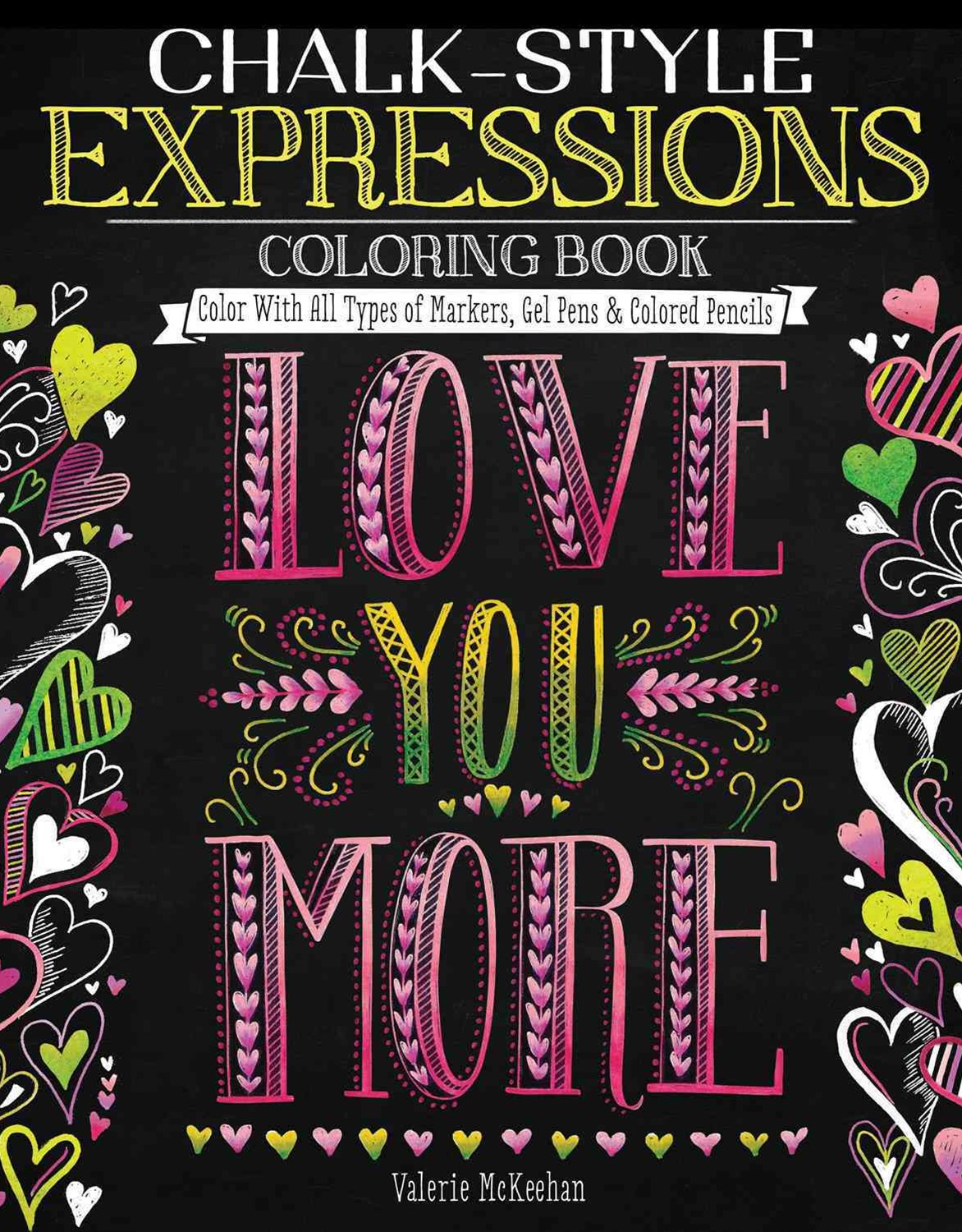 Chalk-Style Expressions Coloring Book