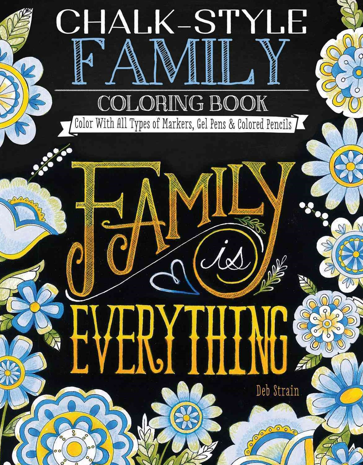 Chalk-Style Family Coloring Book