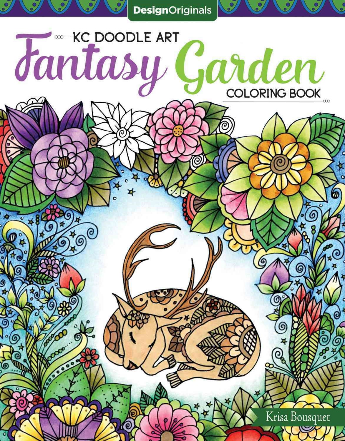 KC Doodle Art Fantasy Garden Coloring Book