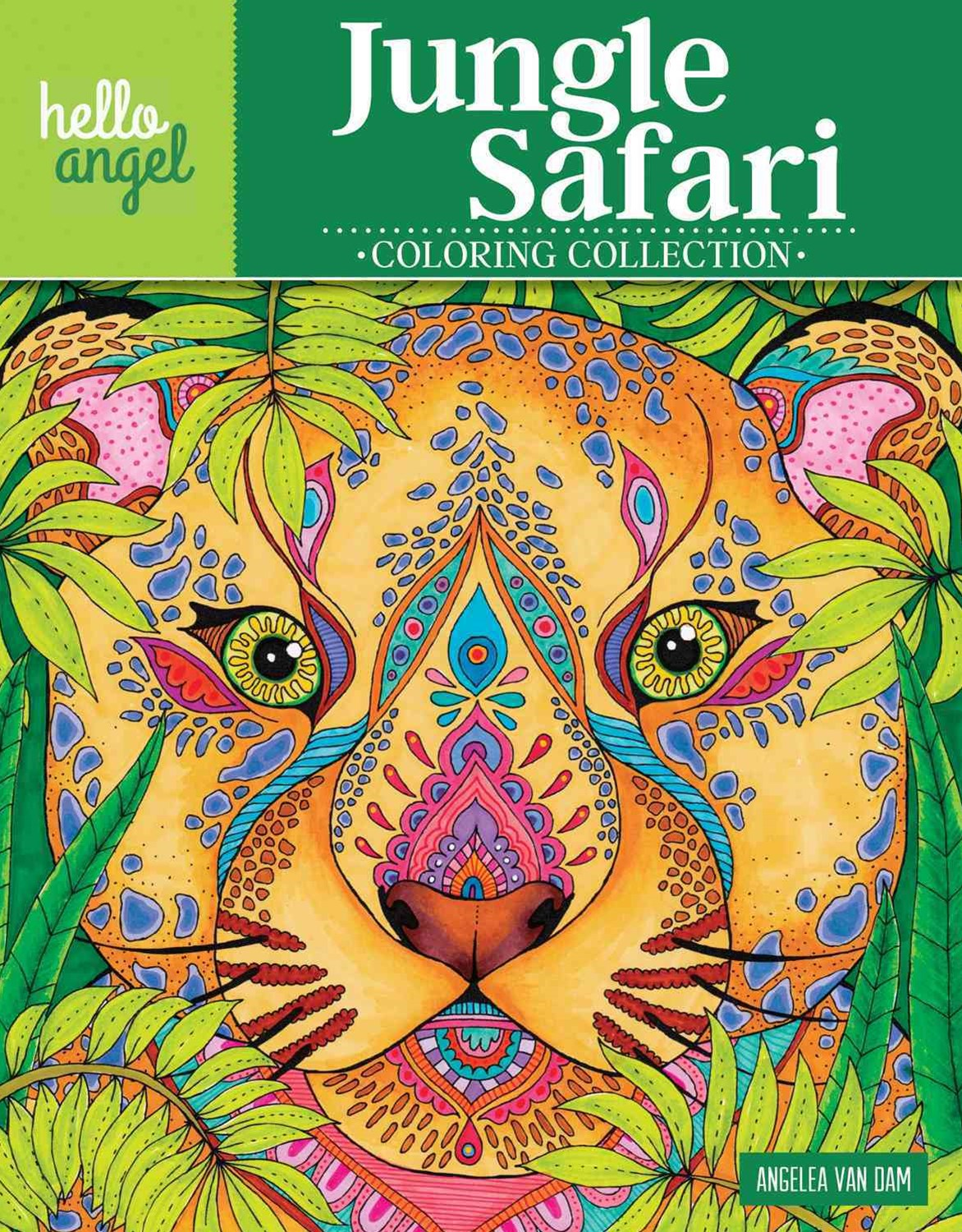 Hello Angel Jungle Safari Coloring Collection
