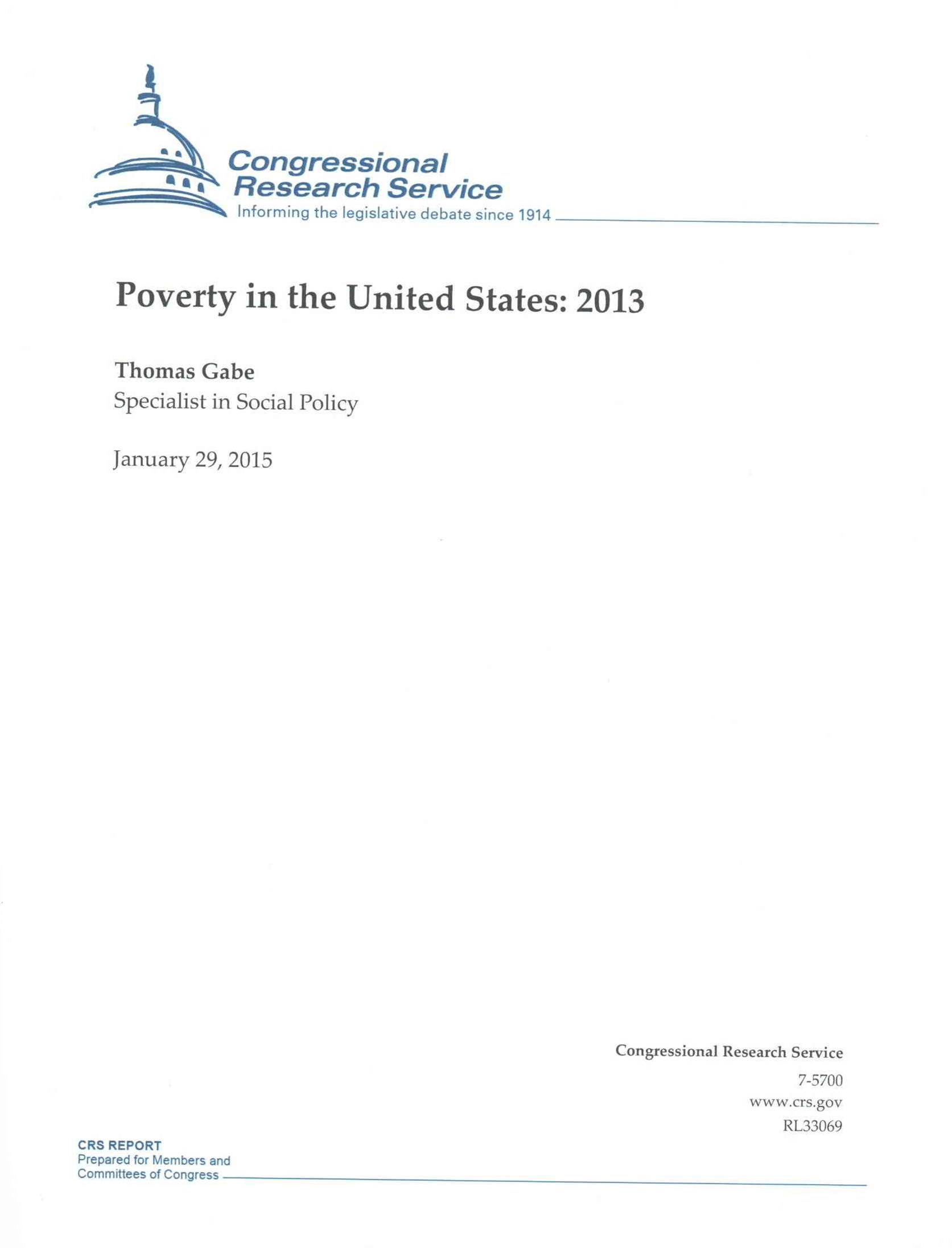 Poverty in the United States: 2013