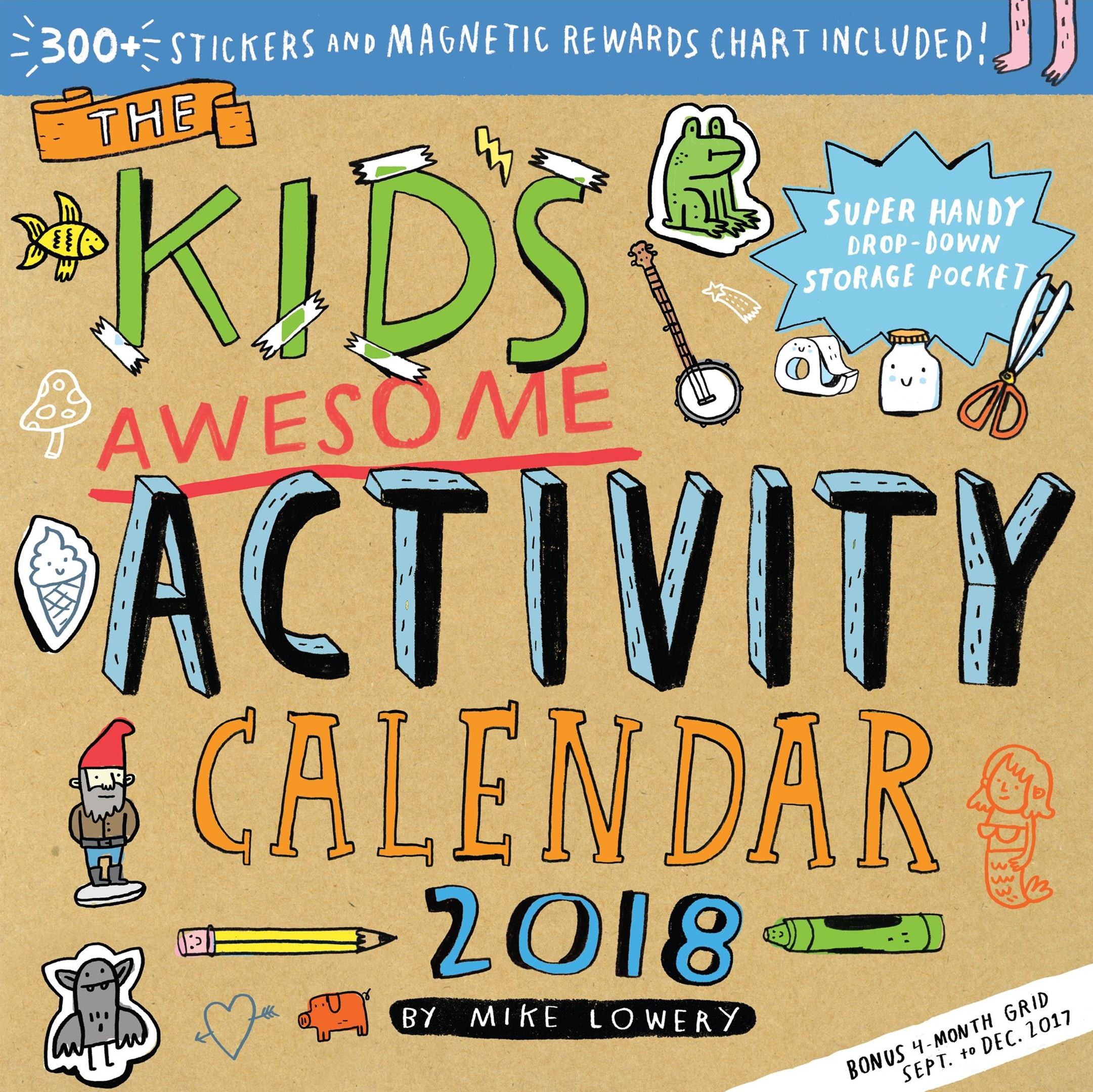 The Kid's Awesome Activity 2018 Calendar