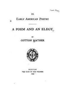 A Poem and an Elegy by Cotton Mather (9781523894666) - PaperBack - Reference