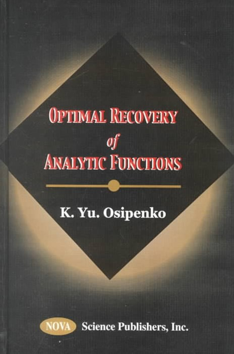 Optimal Recovery of Analytic Functions