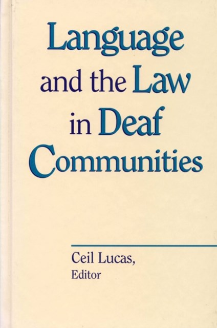 (ebook) Language and the Law in Deaf Communities