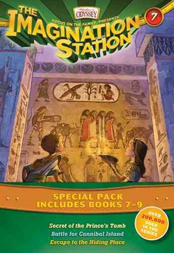 Imagination Station Books 3-Pack: Secret of the Prince's Tomb / Battle for Cannibal Island / Escape