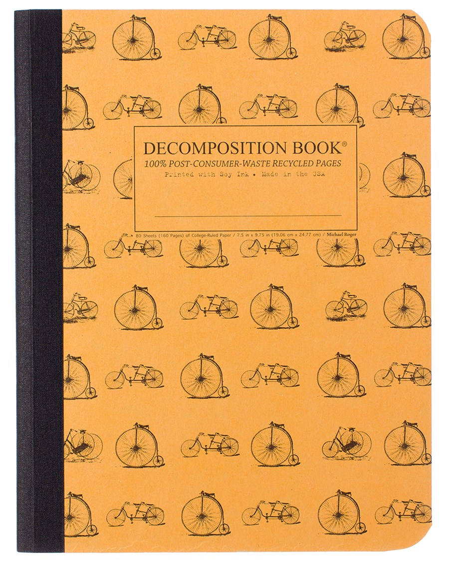 Decomposition - Notebook - Ruled - Large - Vintage Bicycles
