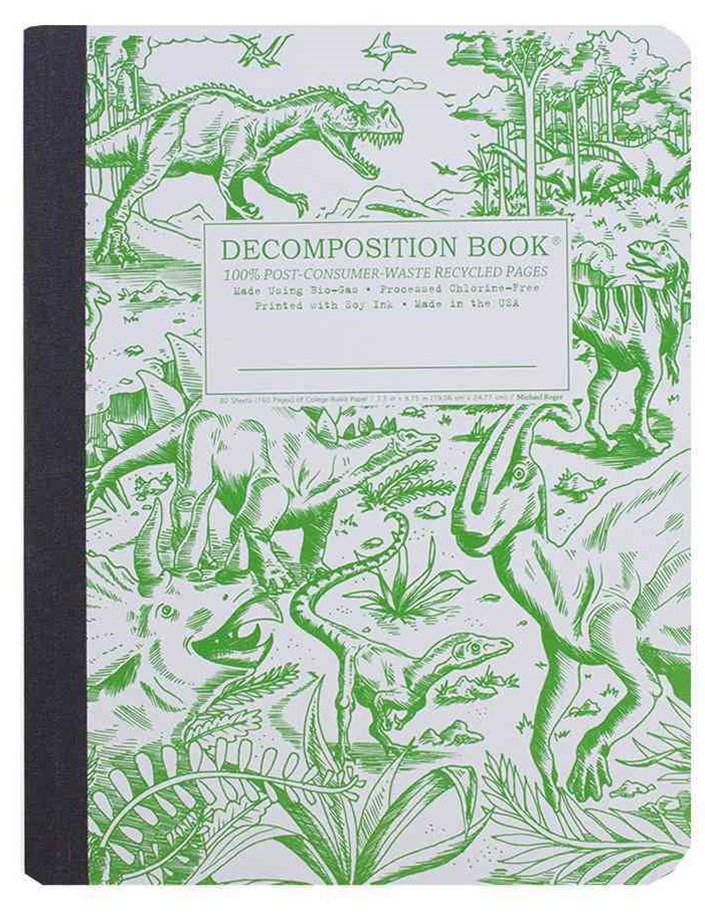 Decomposition - Notebook - Ruled - Large - Dinosaurs