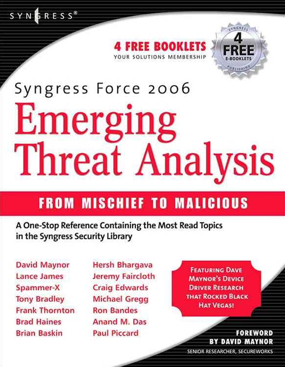 Syngress Force Emerging Threat Analysis