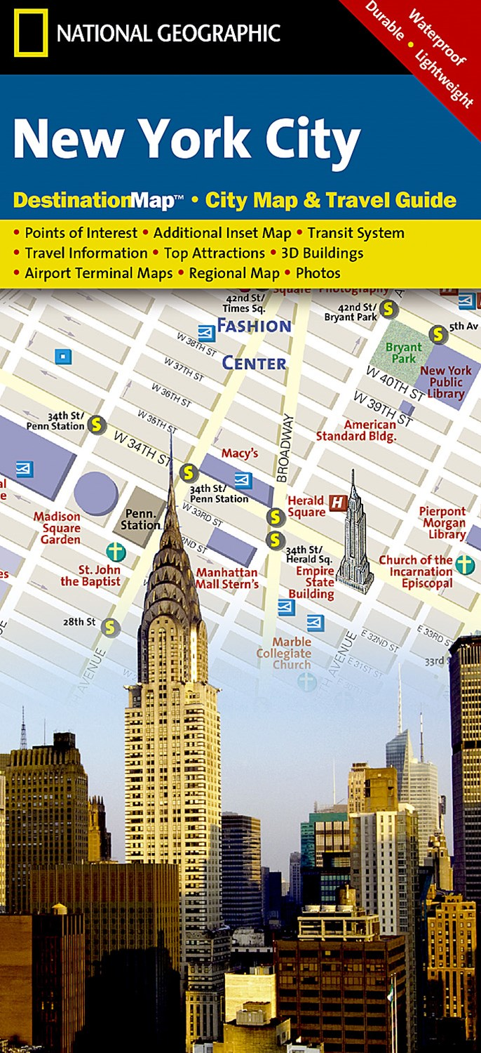 National Geographic Destination City Map New York City