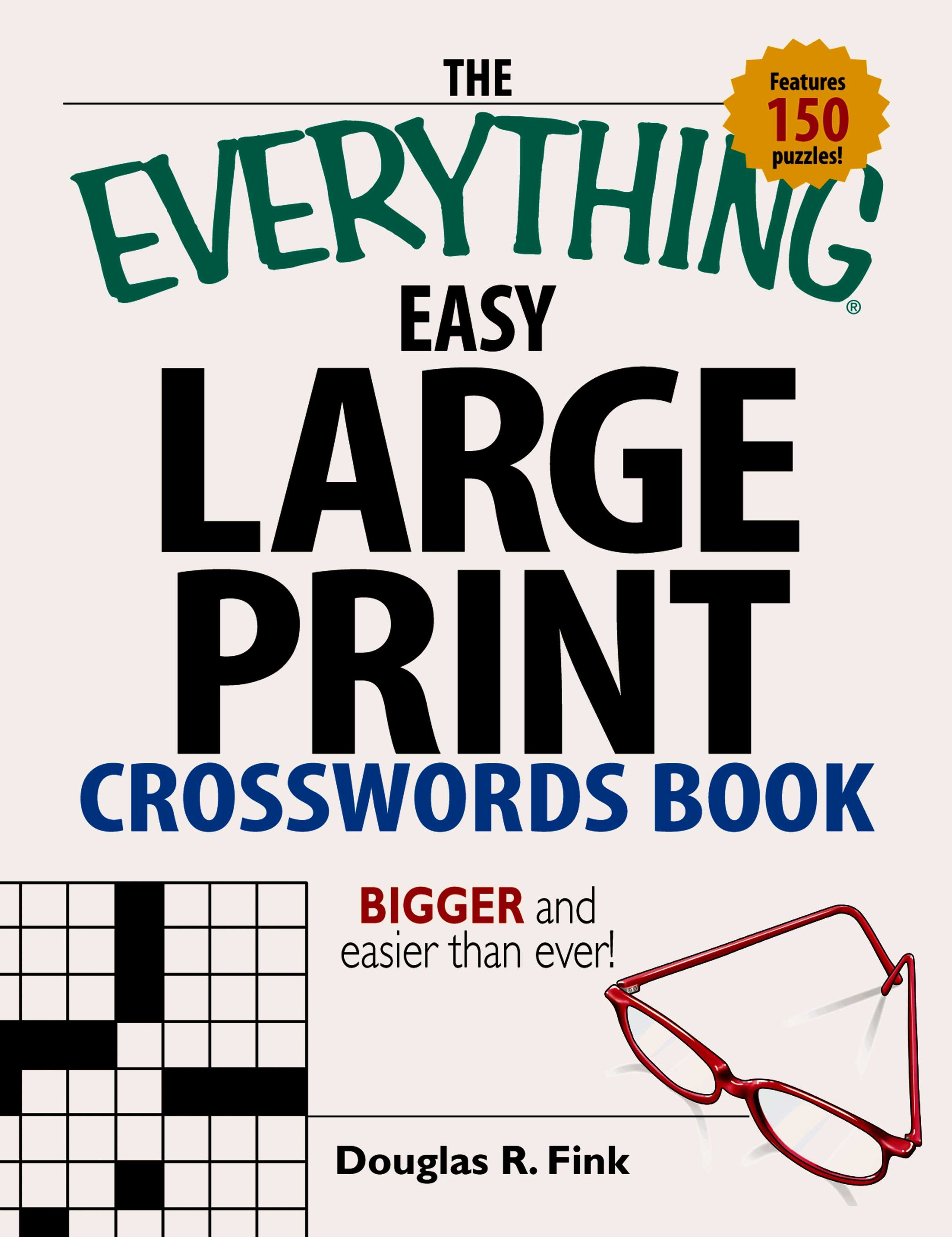 Easy Large-Print Crosswords Book