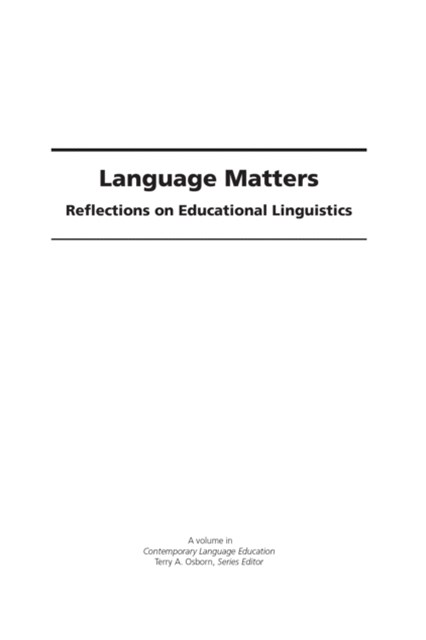 (ebook) Language Matters